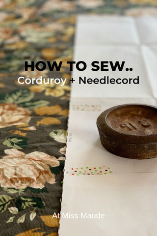 how to sew needlecord