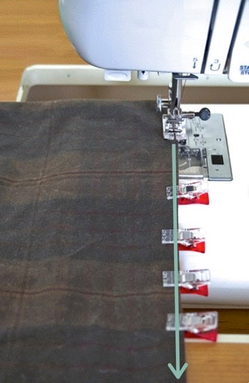 an image showing where to do the topstitching to close the opening.