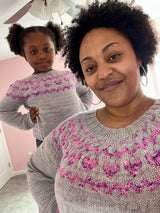 Bean and Olive Grown Up Jumper, Drea Renee. Knitting Pattern