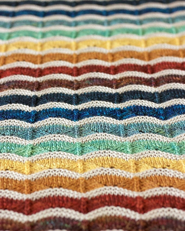 Bounce Blanket, Tin Can Knits. Print Knitting Pattern