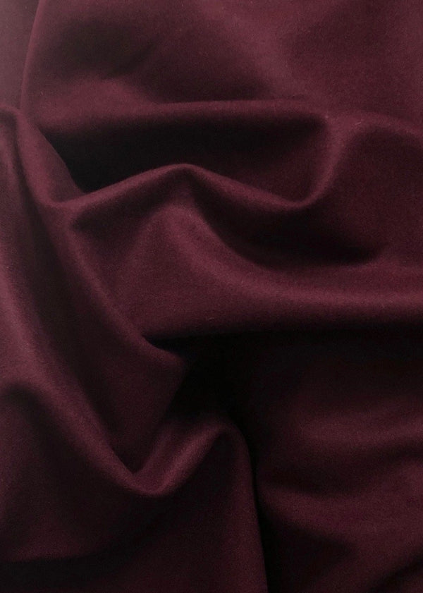 Brushed Wool Coating. Mulberry