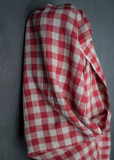 Calamity Red Gingham Laundered Linen
