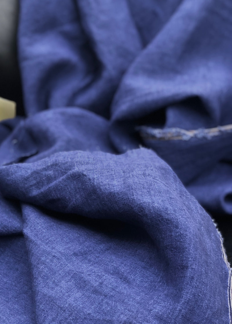 Chemin Washed Linen - Viola Blue