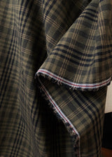 Hobson Khaki Japanese Cotton Check