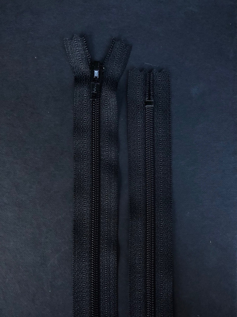 YKK Dress Zip. Black