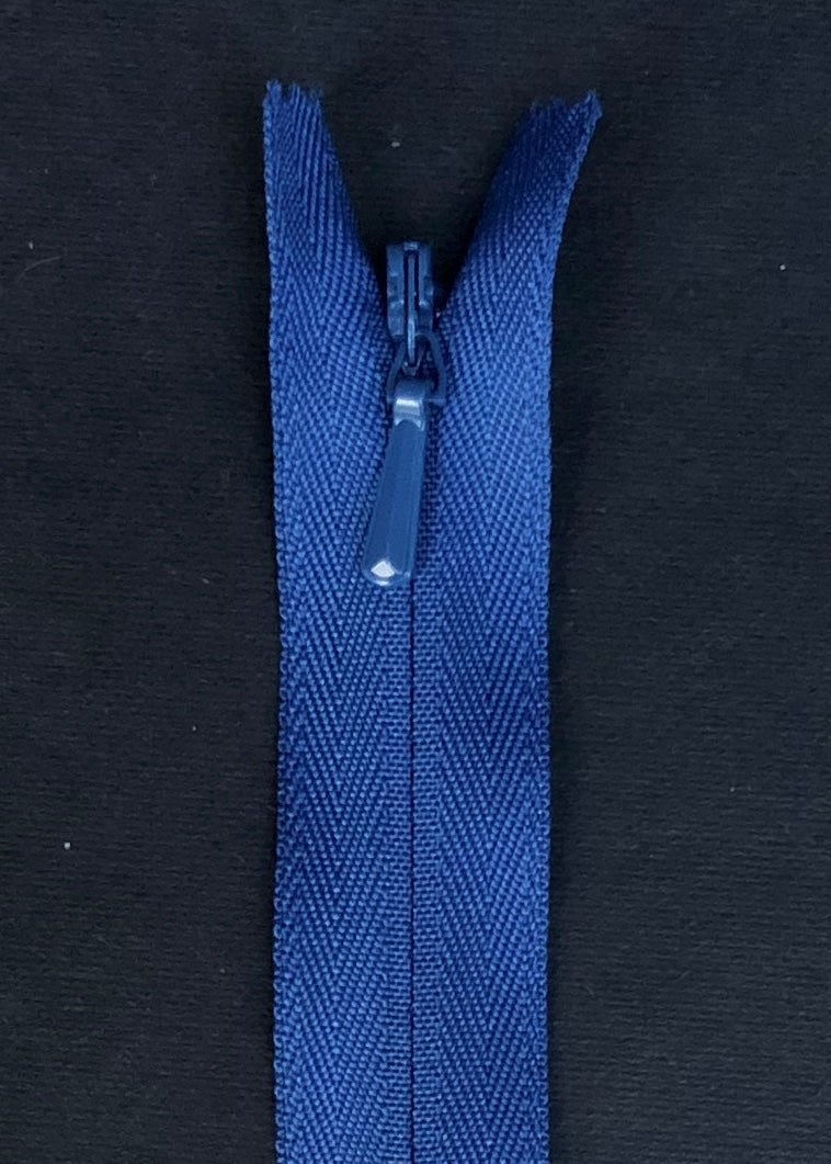 YKK Invisible Zip. Blue