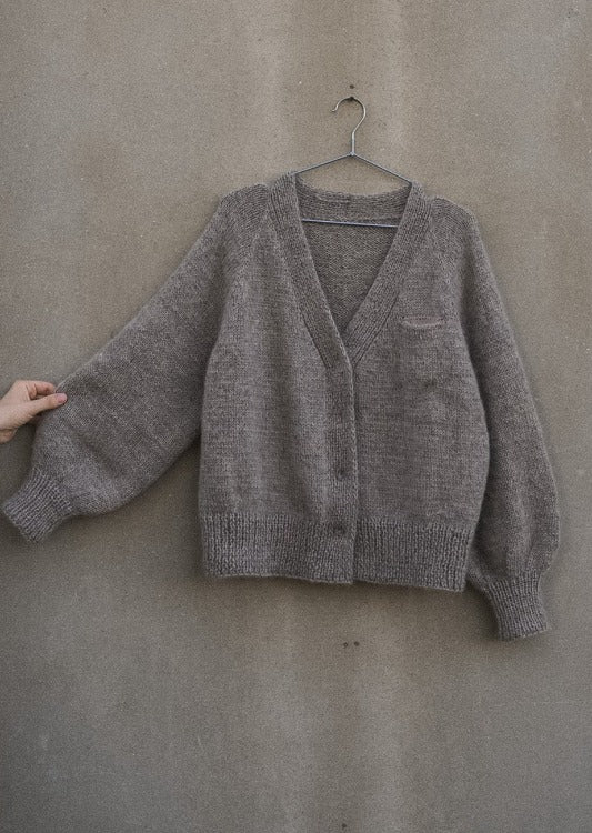Puna Cardigan, Ruke Knit. Print Knitting Pattern