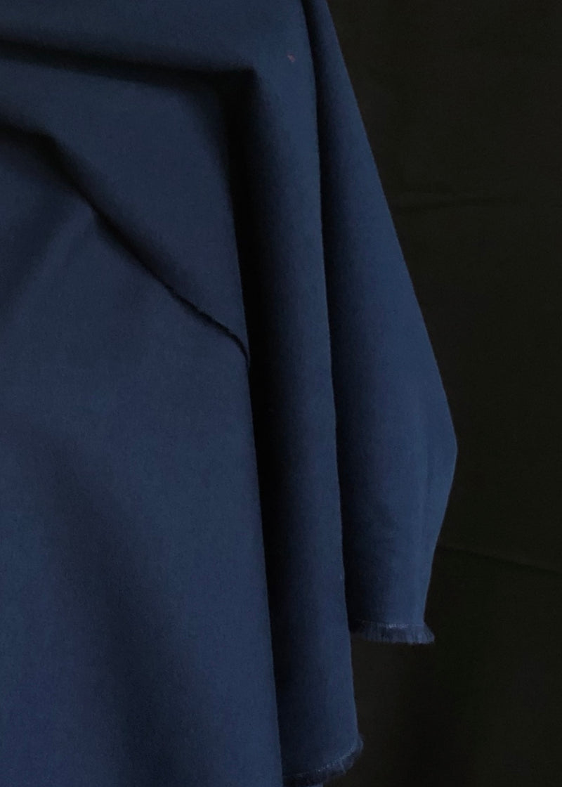 Japanese Brushed Cotton Poplin - Navy