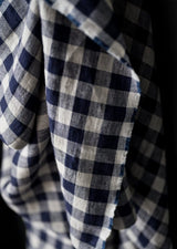 Calamity Blue Gingham Laundered Linen