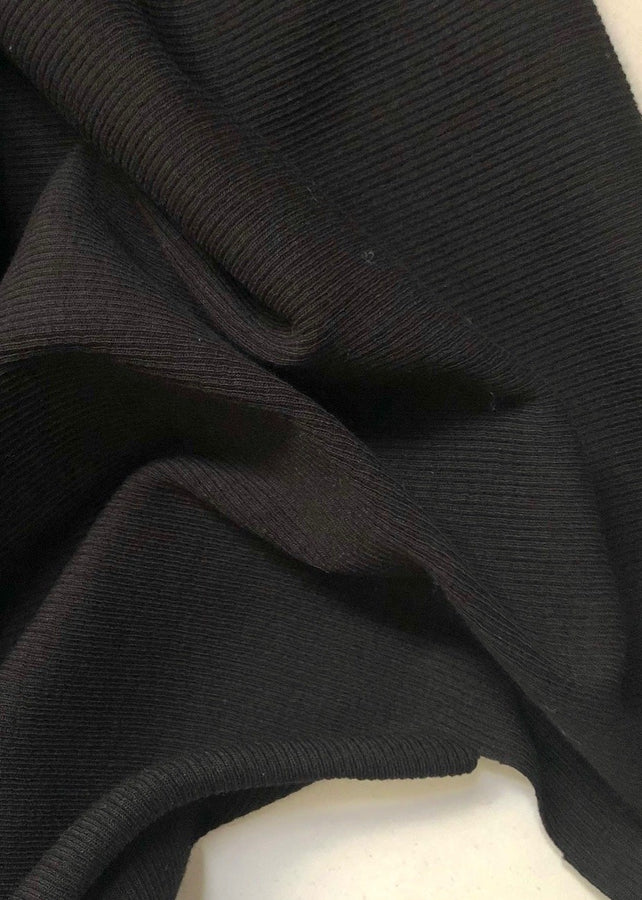 Cotton Rib - Black