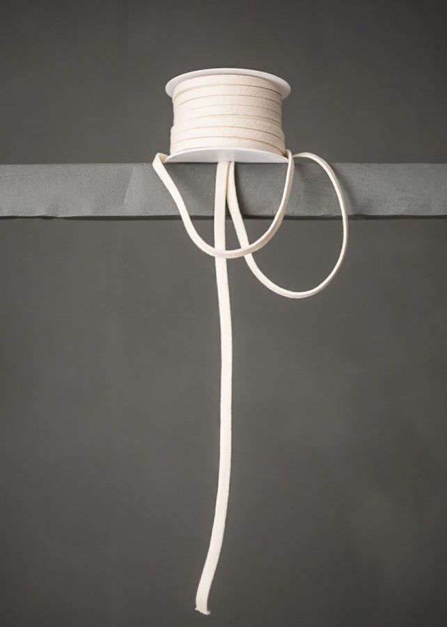 Cotton 10mm Drawstring. Off White