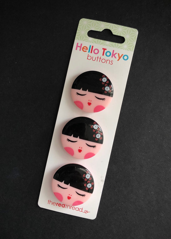 Sweet Hello Tokyo Buttons 32mm