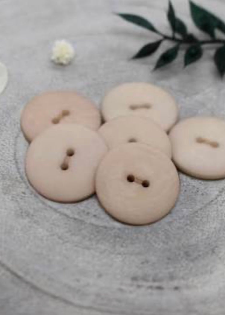 Palm Corozo Buttons - Blush. 20mm, 25mm