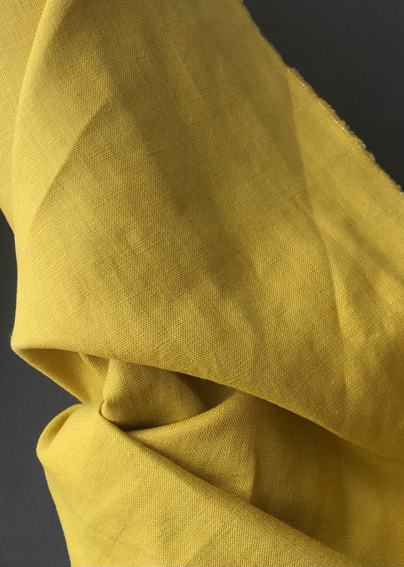 Laundered Linen Cotton - Chartreuse