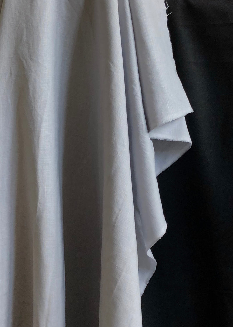 Laundered Linen Cotton - Light Grey