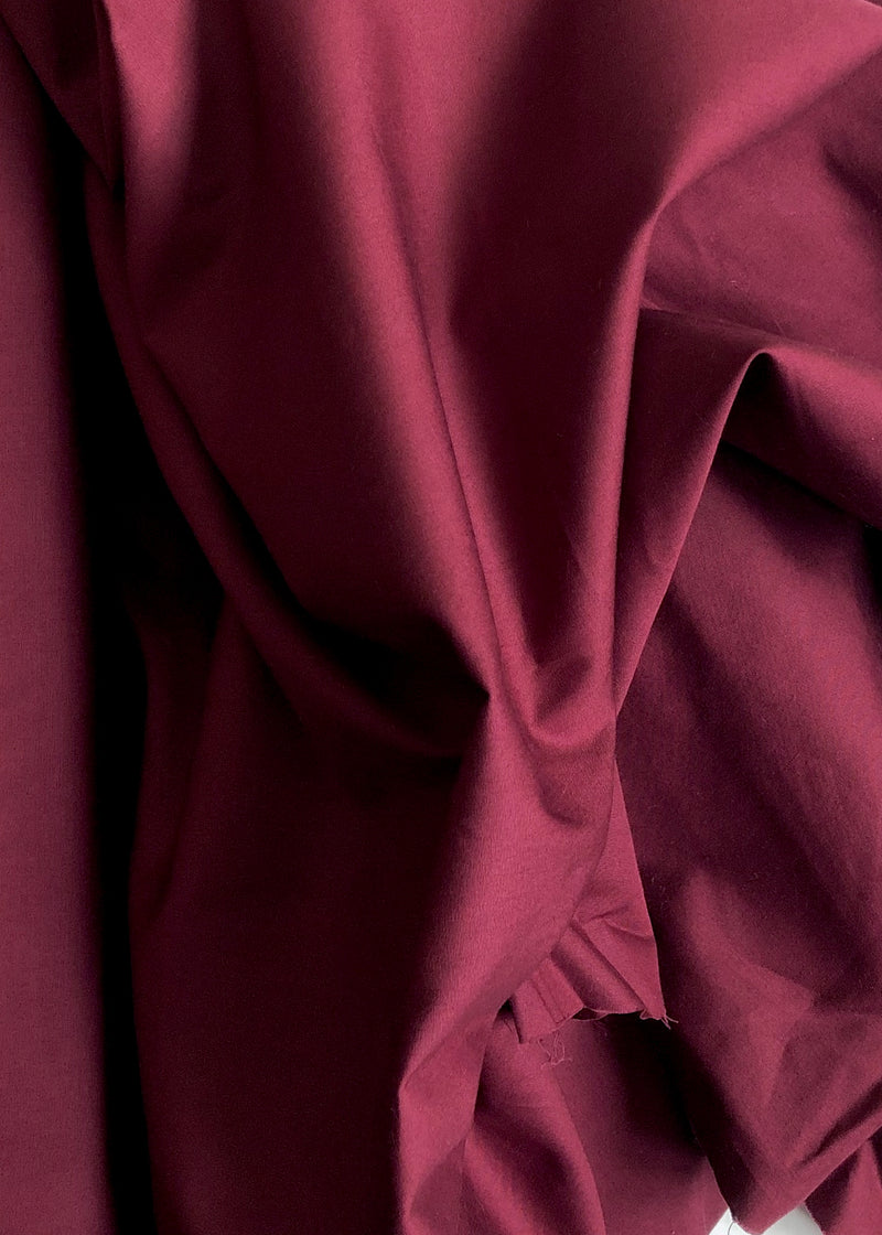 Organic Cotton Poplin - Mulberry