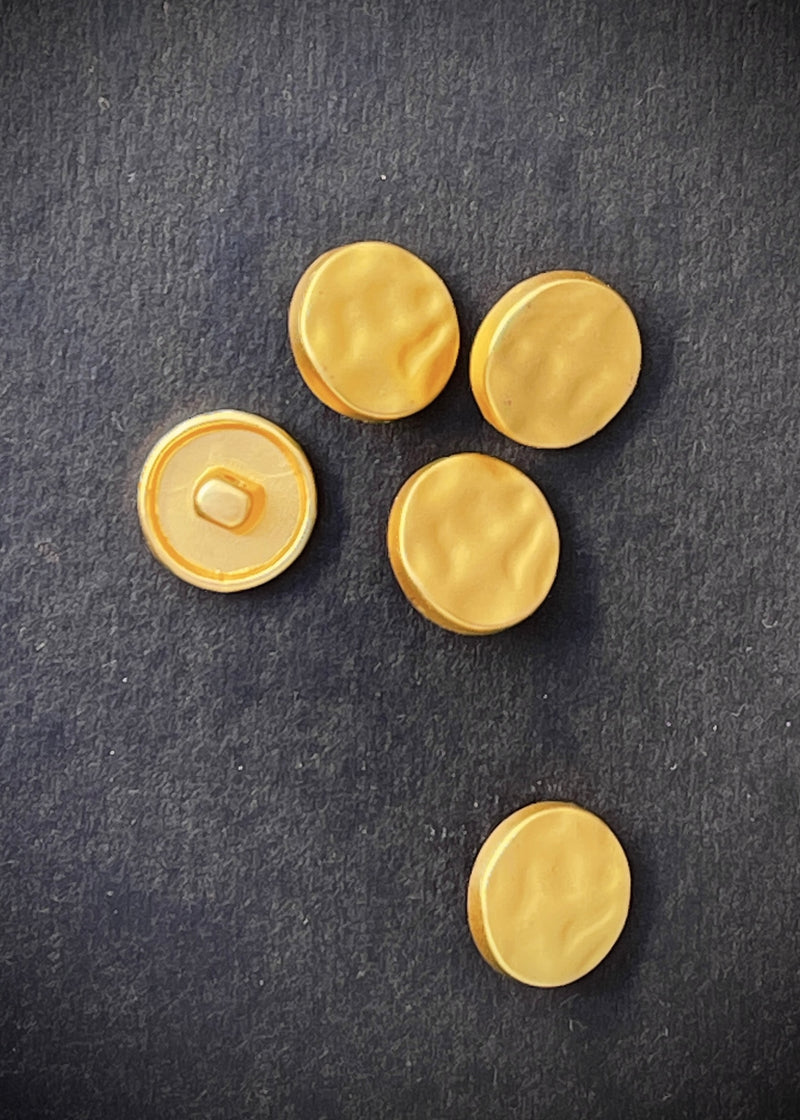 Metal Buttons -  Shank Irregular Bright Gold 16mm