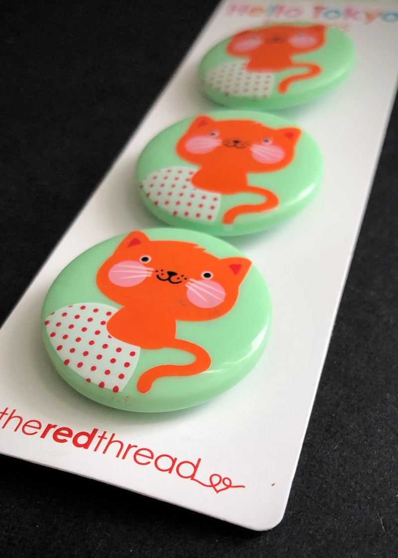 Kitty Hello Tokyo Buttons 32mm