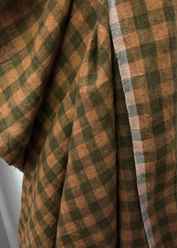 New England Check Laundered Linen