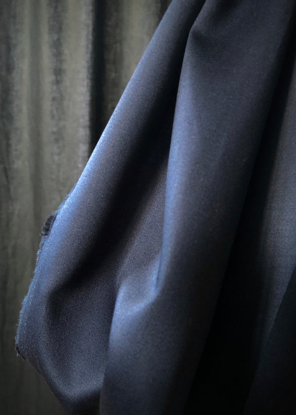 Japanese Cotton Sateen, Ink Navy