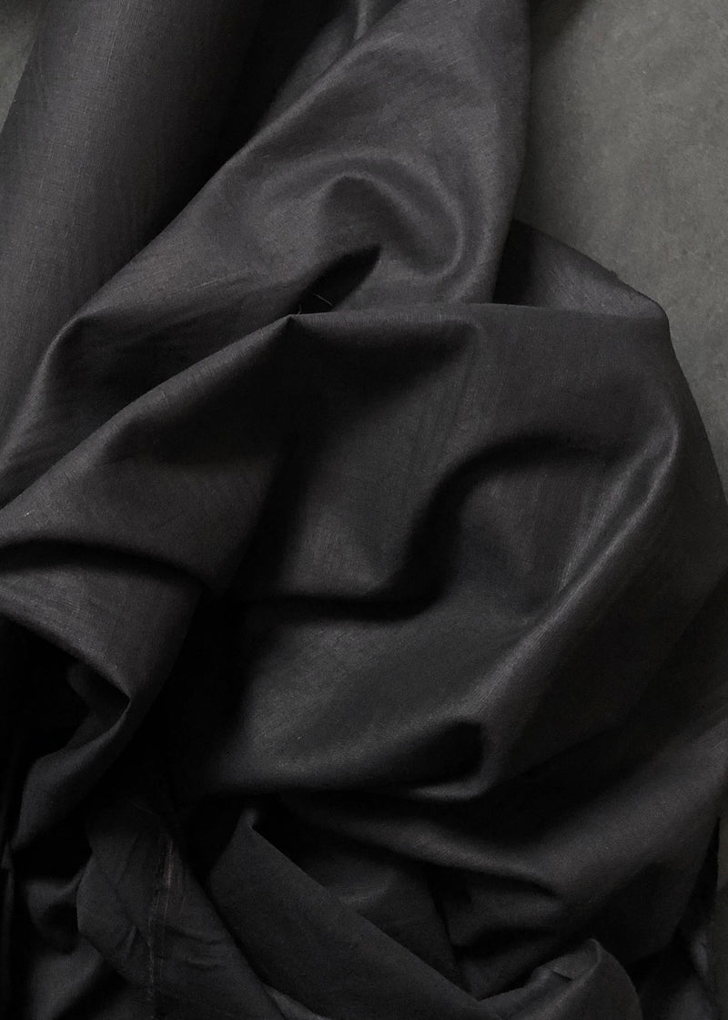 Laundered Linen Cotton - Black
