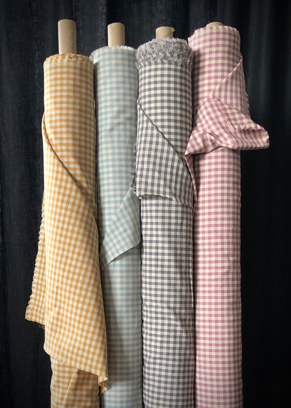 Japanese Cotton Gingham, Ochre