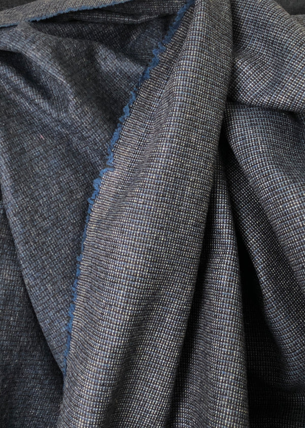City Check Brushed Wool Suiting