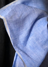 Bubblegum Blue Crossweave Linen