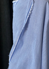 Japanese Cotton Fine Cord Shirting, Seaside Blue