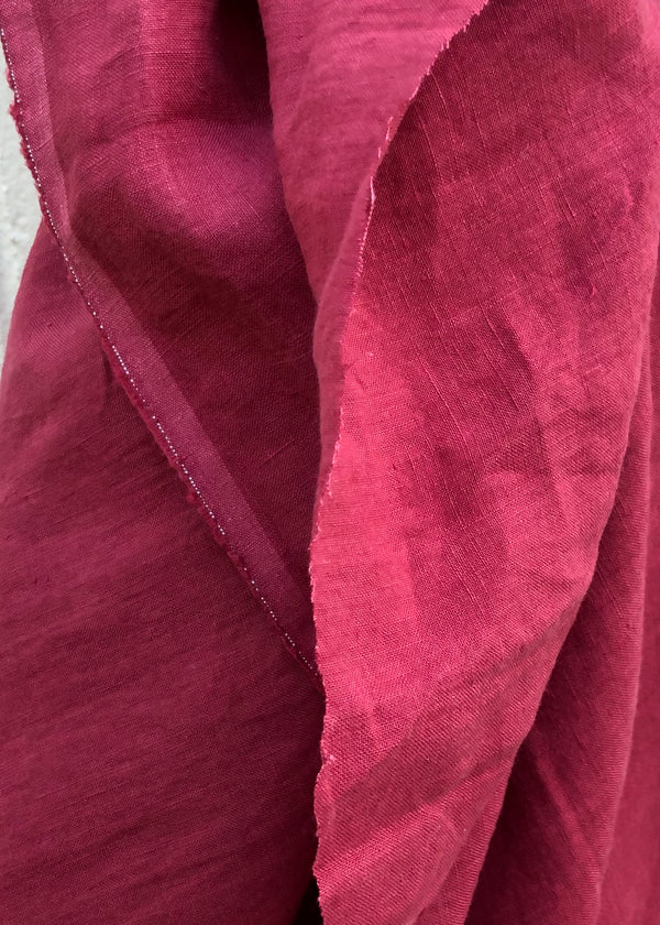 Maison Washed Linen - Raspberry