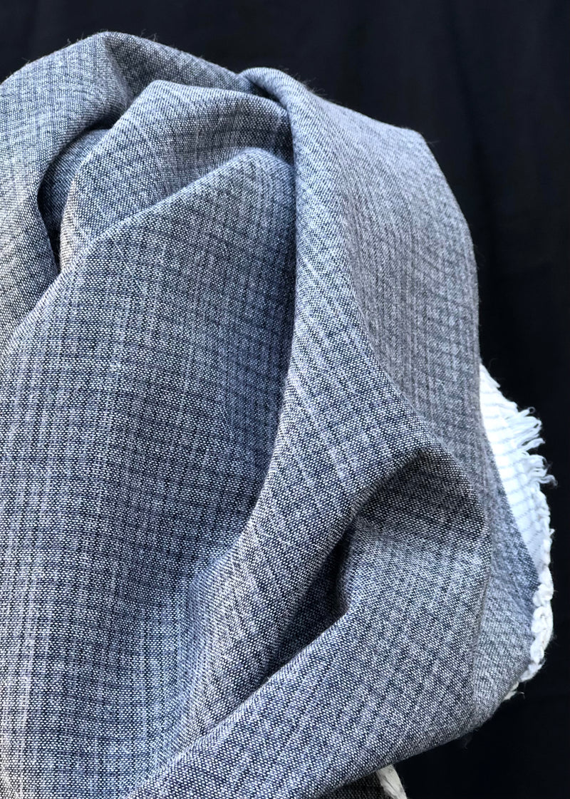 Mélange Japanese Cotton Check - Charcoal