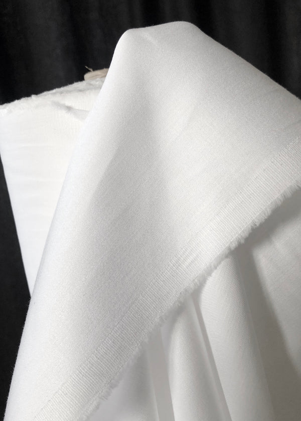 Japanese Cotton Sateen, Bright White