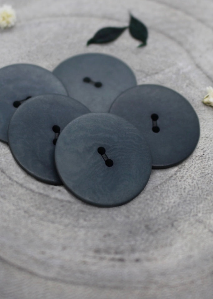 Palm Corozo Buttons - Smokey. 20mm, 25mm