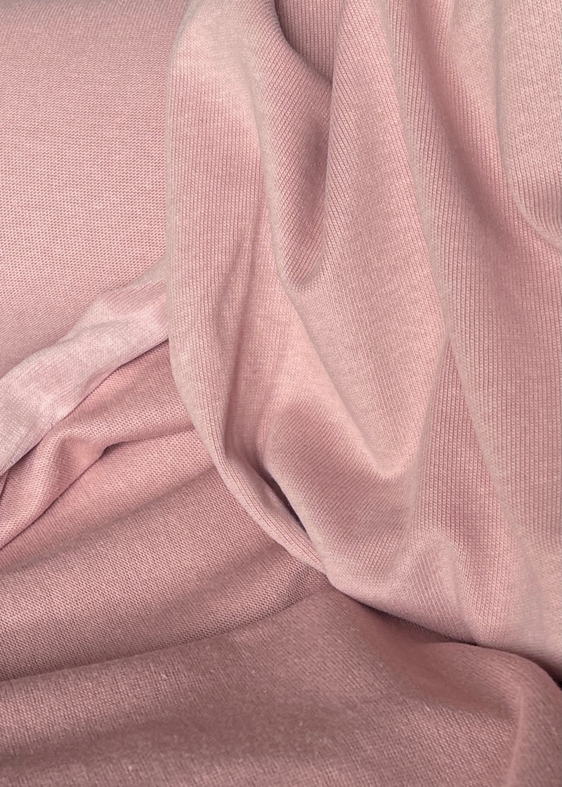Sideline Cotton Knit, Blush Pink