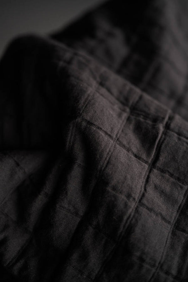 Lunar Black Jacquard Cotton