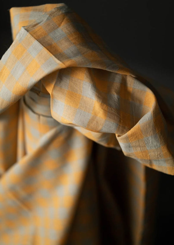 Orange Drizzle Checked Cotton