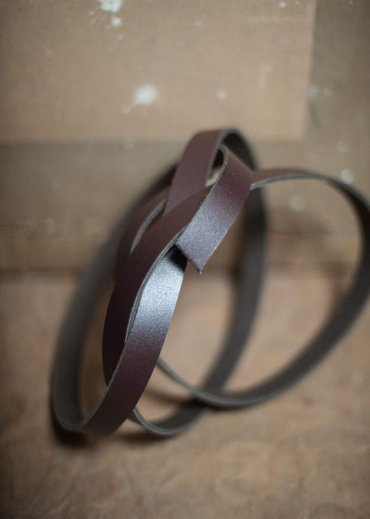 Split Cowhide Leather Strapping 3/4""