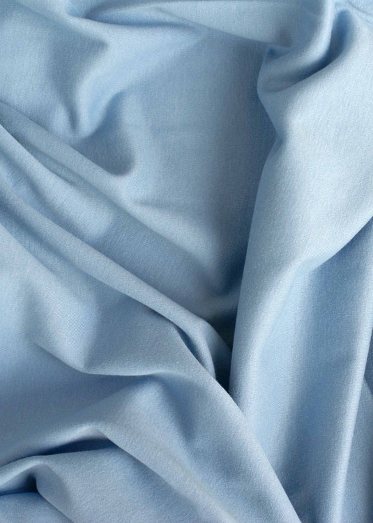 Organic Cotton/Elastane Interlock Knit - Periwinkle Blue