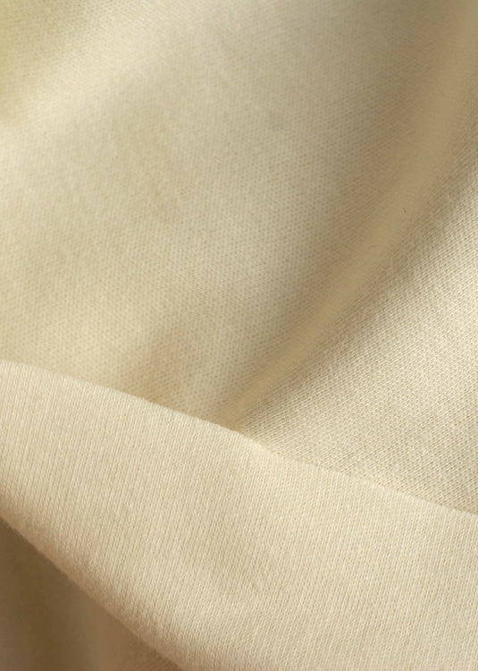 Organic Cotton/Elastane Interlock Knit - Cream