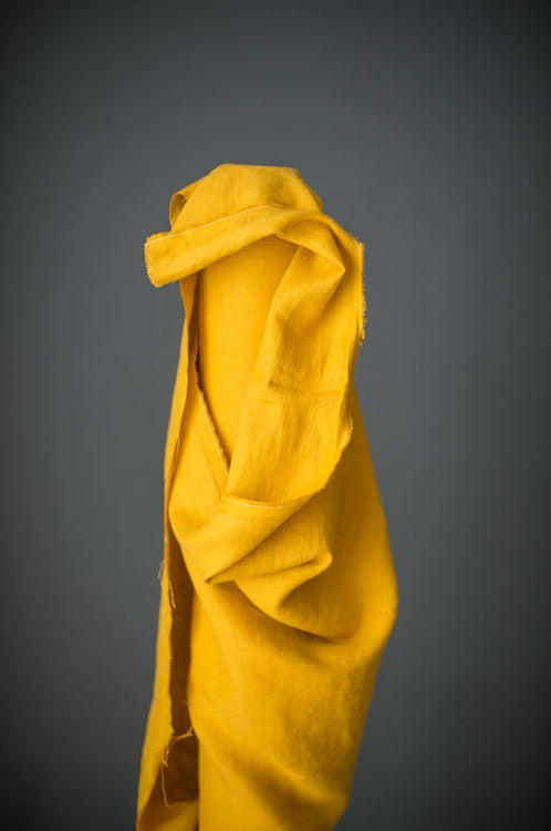 European Laundered Linen - Black Eyed Susie Yellow