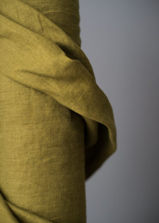 European Laundered Linen - Pine Green