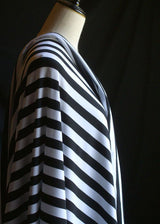 Torpedo Stripe Jersey Knit - Black and White