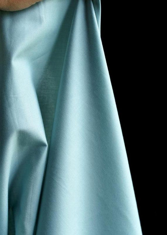 Organic Cotton Poplin - Mineral Blue