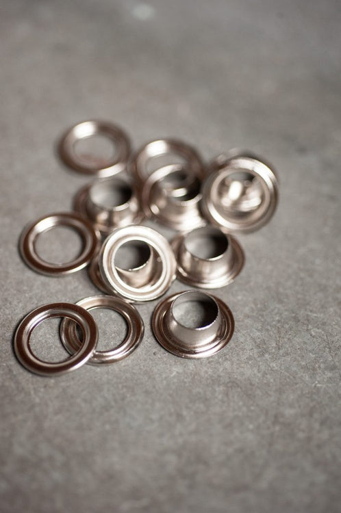 Pack of 10 Eyelets - Brass or Nickel