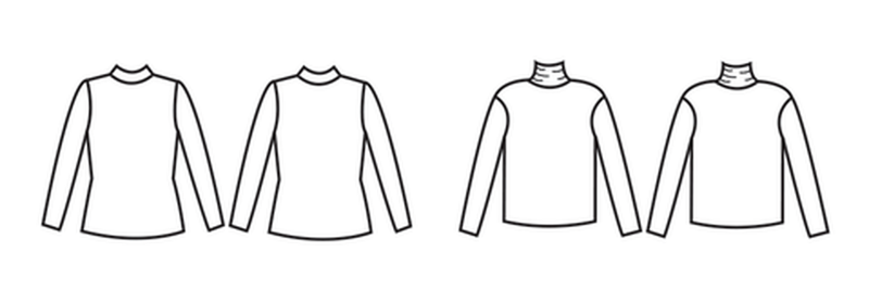 Papercut Patterns, Rise and Fall Turtleneck