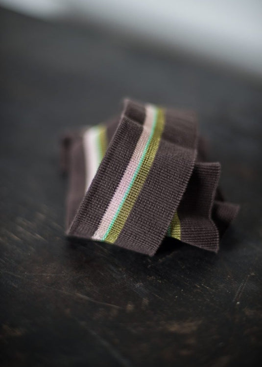 Striped Cotton Rib - Chocolate Fern