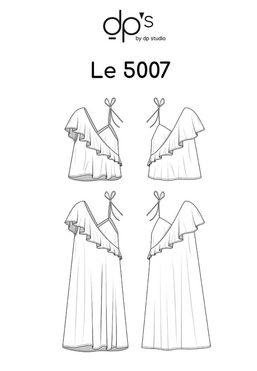 Asymmetric Frill Top and Dress - Le 5007
