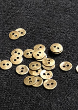 Metal Buttons - Antique Bronze Two Hole 11mm    Set of 6.