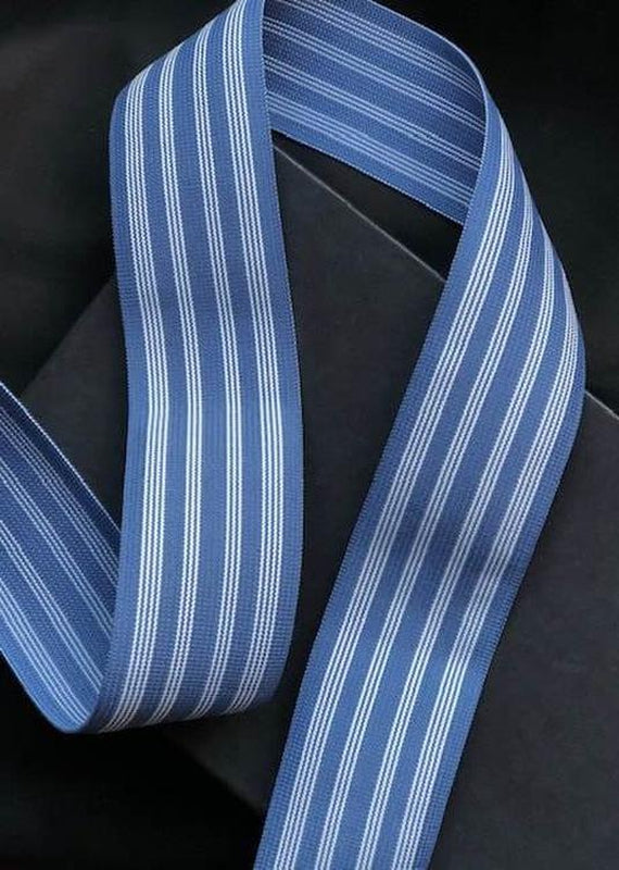 50mm Wide Elastic - Airforce Blue Stripe.