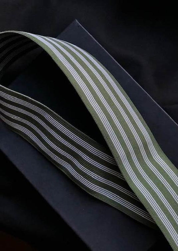 50mm Wide Elastic - Khaki Stripe